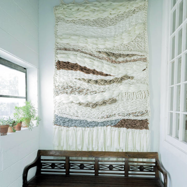Woven and Crocheted Wall Hanging