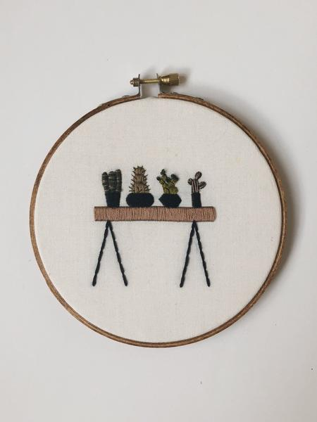 Table Cacti Do it Yourself Embroidery Kit