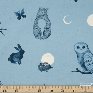 Crescent by Ruby Star Society: Forest Dot - Soft Blue