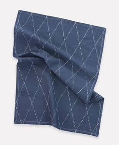 Anchal - Slate Tea Towel - Diamond