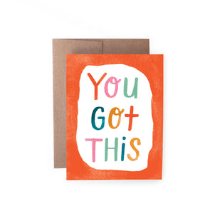 Handzy Shop + Studio - You Got This Card