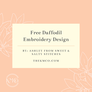 Free Daffodil Embroidery Design
