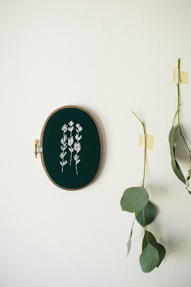 Thistle & Thread Design - Lavender Embroidery Art