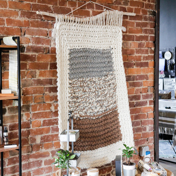 Knit and Crochet Wall Hanging Art
