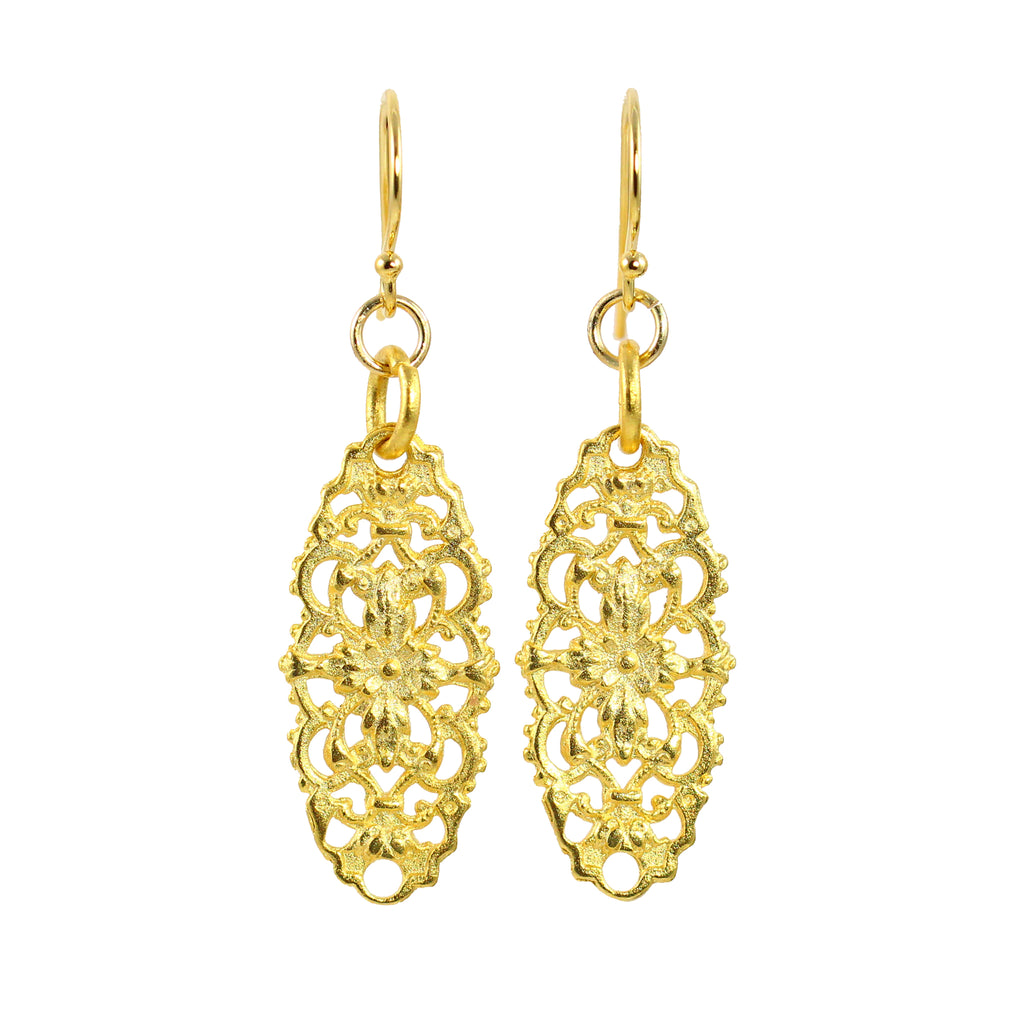 Lacy Gold Filigree Earrings