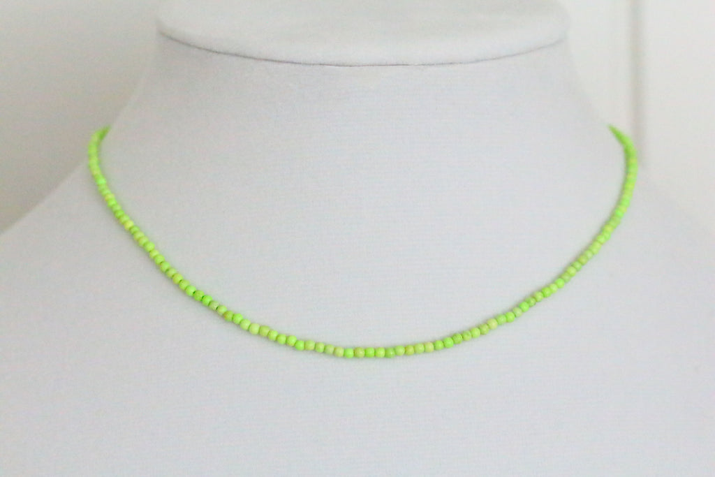 Lemon Chrysoprase Choker