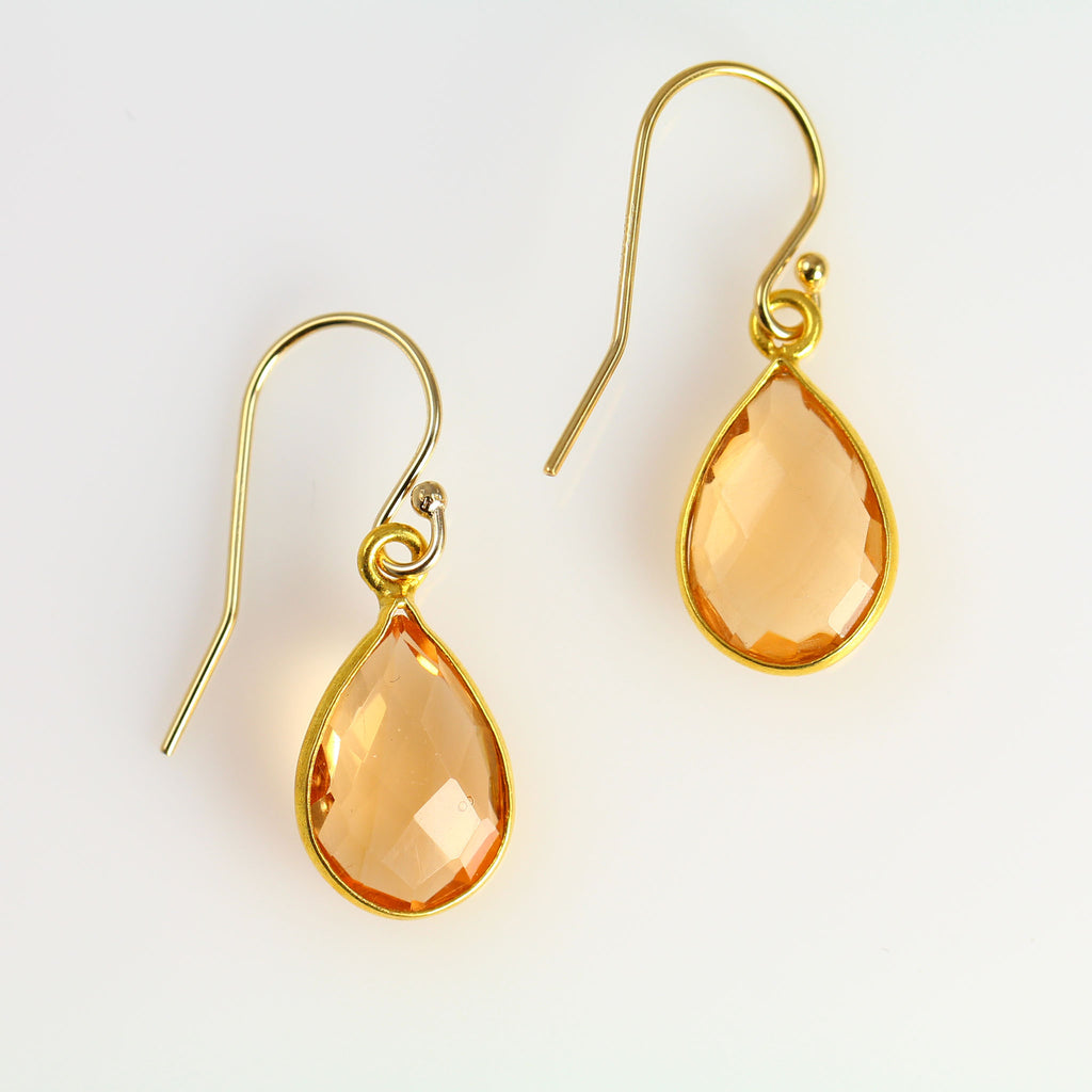 Topaz Teardrop Earrings