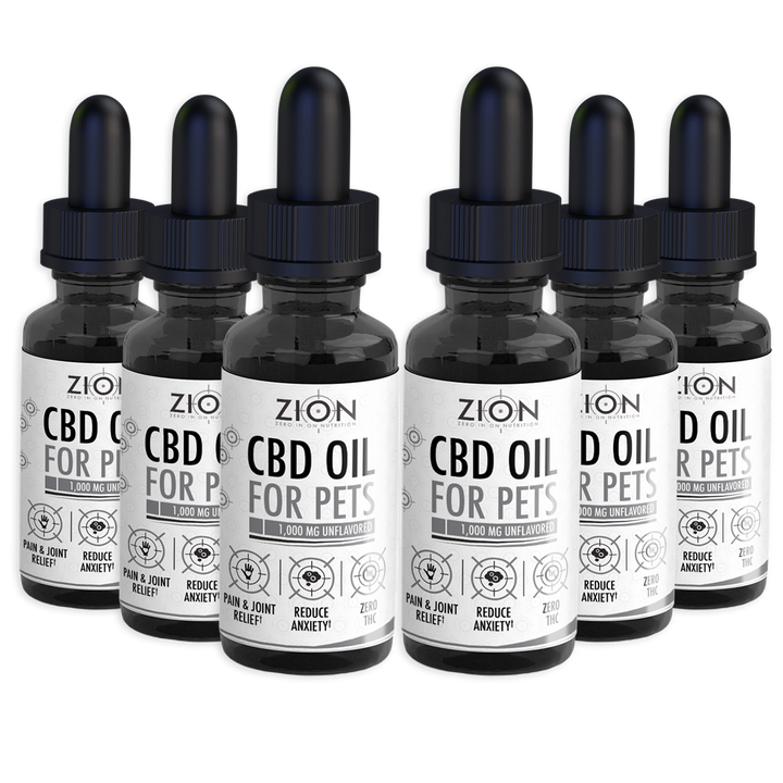 CBD Oil For Pets (1000 mg) - 6 Pack Bundle