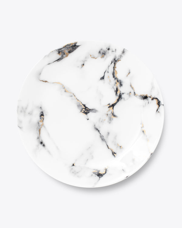 24K Marble Charger Plate
