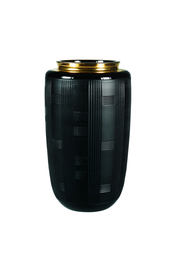Jet Black Case & Small Vase