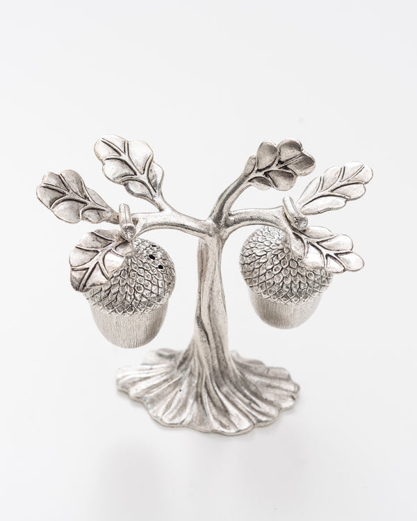 Acorn Salt + Pepper Set | Silver | Rent