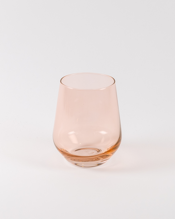 Angelou Stemless Wine | Rent | Blush Pink