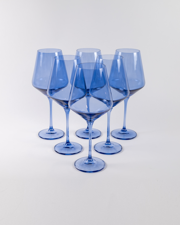 Angelou Wine Gift Set 6pc | Cobalt Blue
