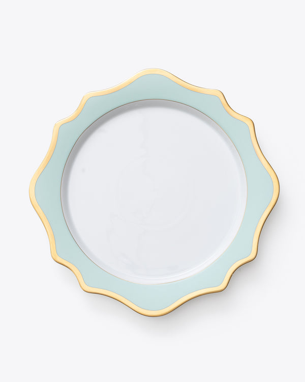 Anna's Palette Charger Plate | Aqua Green