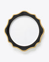 Anna's Palette Charger Plate | Rent | Black
