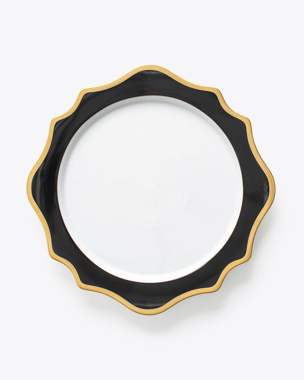 Anna's Palette Charger Plate | Black
