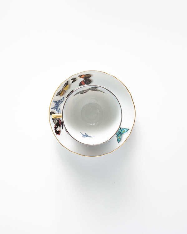 Butterfly Teacup + Saucer Set | Rent