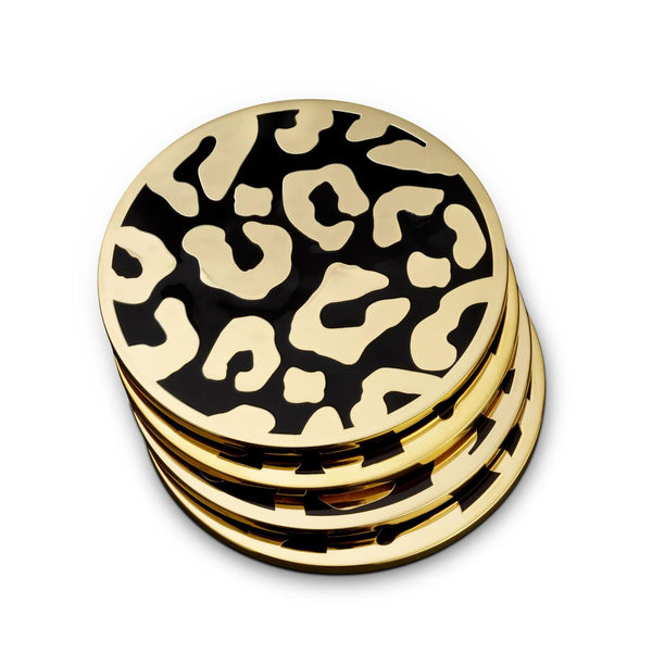 Leopard Coasters, Set of Four