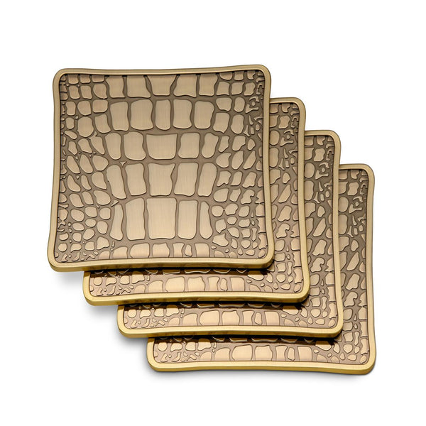 Crocodile Coasters, Set of Four