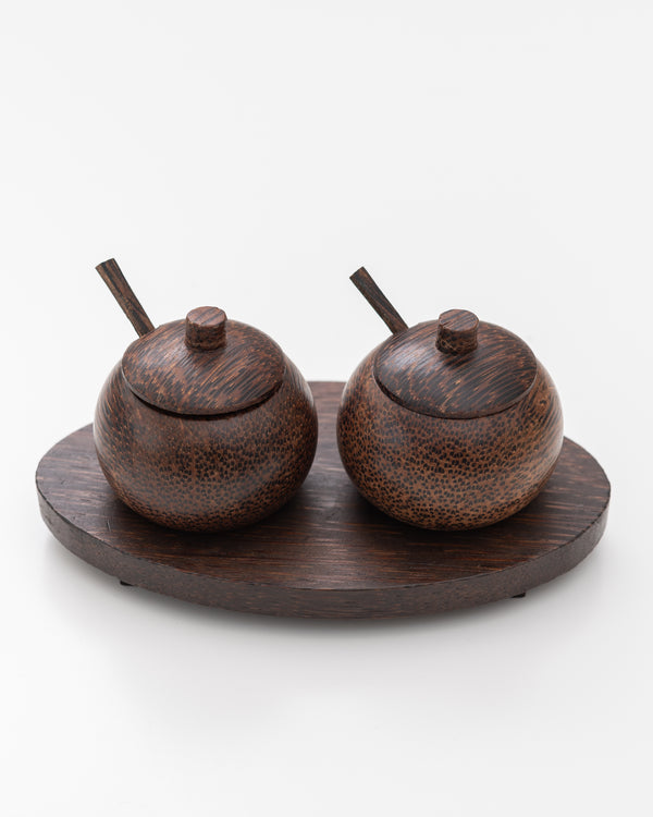 Coconut Salt + Pepper Cellar | Rent