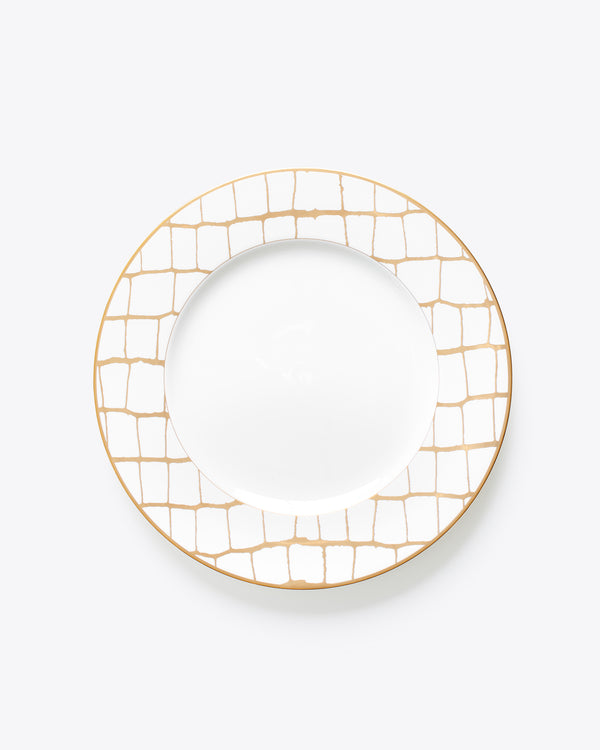 Croc Bijoux Dinner Plate | Rent | Gold