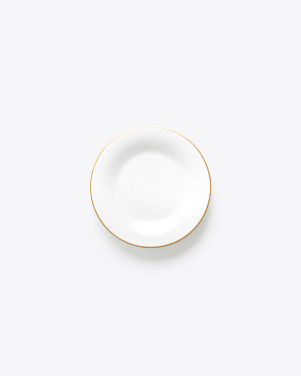 Croc Bijoux Bread + Butter Plate | Rent | White