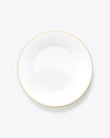 Croc Bijoux Dinner Plate | Rent | White