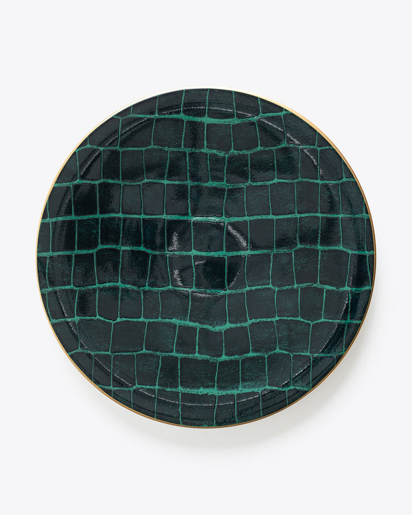 Croc Bijoux Charger Plate | Rent | Emerald