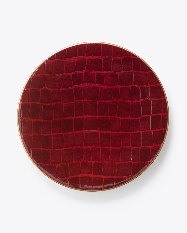 Croc Bijoux Charger Plate | Ruby