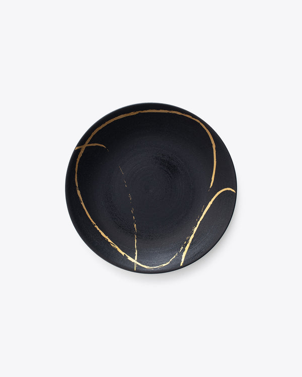 Eclipse Salad + Dessert Plate | Rent | Black