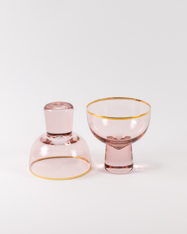 Fitzgerald Cocktail Set 2pc | Blush