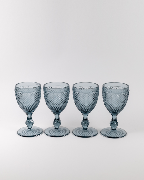 Frost Water Goblet Set 4pc | Smoke