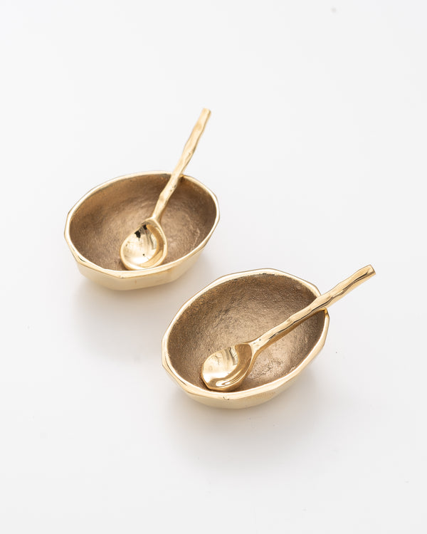 Golden Egg Salt + Pepper Cellar
