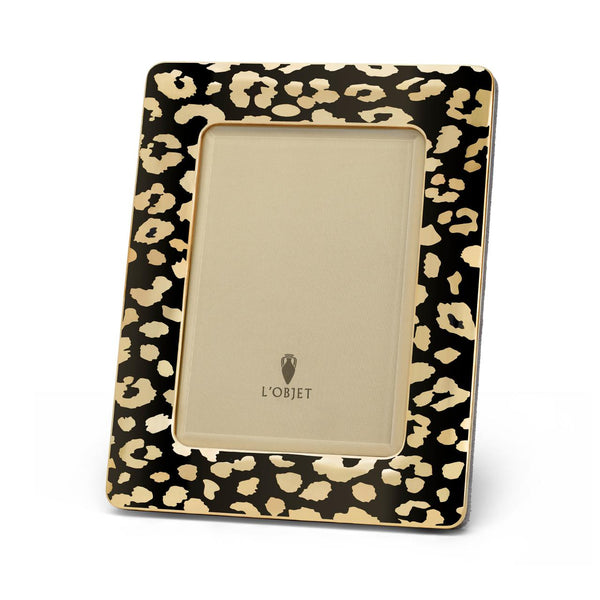 Large Gold Leopard Frame
