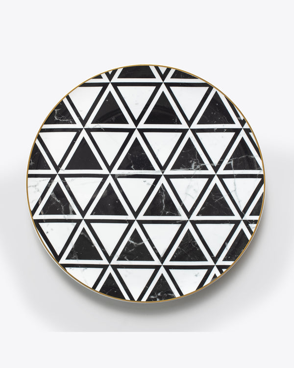 Modern Marble Charger Plate | Rent