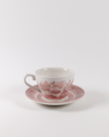 Primrose Hill Cranberry Teacup + Saucer Set | Rent