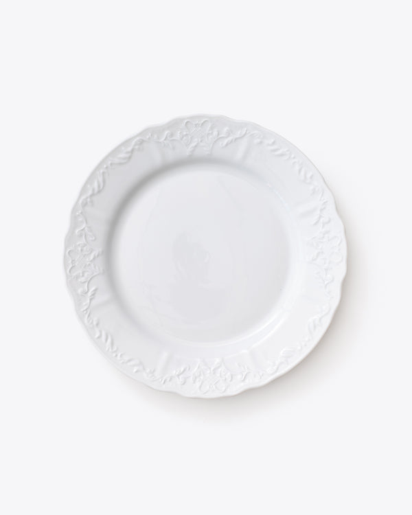 Ramsey Dinner Plate | Rent | White