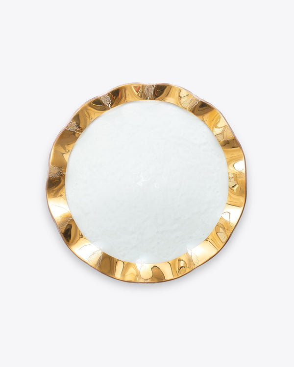 Ruffle Dinner Plate | Rent | Gold