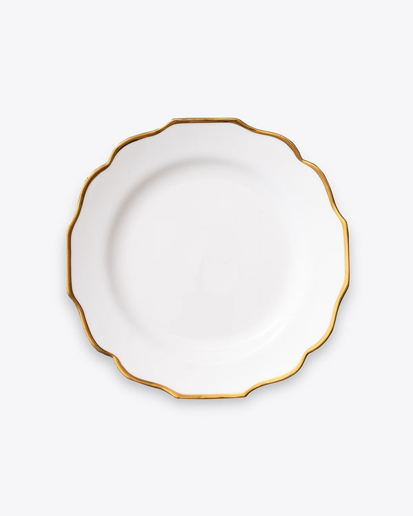 Scallop Dinner Plate | White