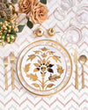 Ivy Dinner Plate | Rent | Gold