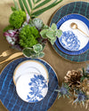 Ivy Bread + Butter Plate Set 4pc | Blue