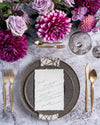 Stone of Gold Salad + Dessert Plate | Rent