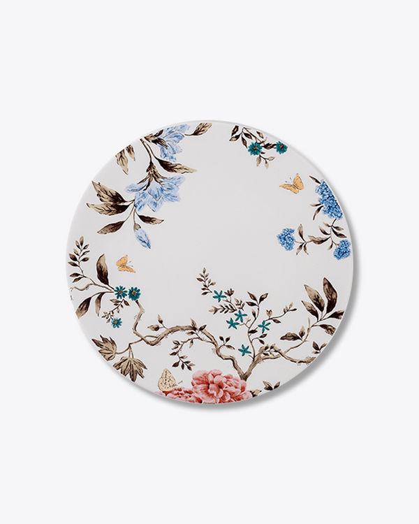 Sprig and Vine Dinner Plate | Rent | White