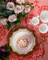 Anna's Palette Dinner Plate | Rent | Dusty Rose
