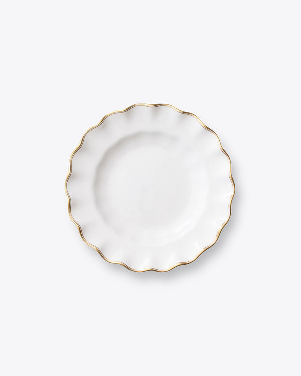 The Downton Fluted Salad + Dessert Plate | Rent | Gold