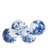 Blue Toile Canapé, Set of Four