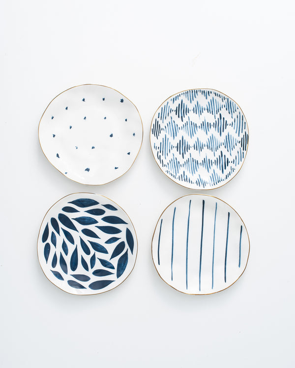 Blue Bay Bread + Butter Plate Set 4pc | Rent