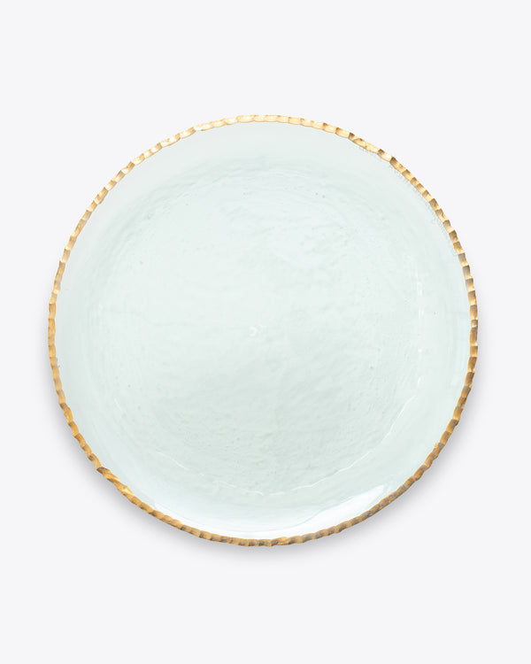 Edgy Charger Plate | Rent | Gold