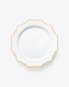 Houndstooth Dinner Plate | Rent