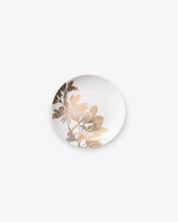 Ivy Bread + Butter Plate Set 4pc | Gold